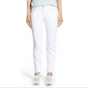 Eileen Fisher Organic Cotton White Jeans - Size 12